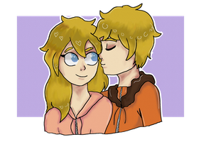 Art Trade - Kenny and Kelly by TacosAndFaygo