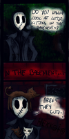 Little kittens in basement comic by Hekkoto