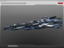 Scifi Dreadnought Vengeance by msgamedevelopment