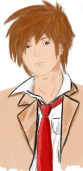 Light Yagami - coloured by xSaphire-dragonx