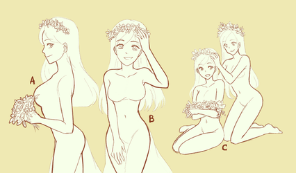 YCH#10 Flower Crown Girls [OPEN 2/5 - BASE PRICE] by VSasha