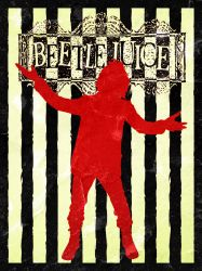 Beetlejuice (1988) Minimalist Poster by JRTribe