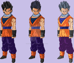 Adult Son Gohan v2 (My Design) by Anorkius-TheNERX