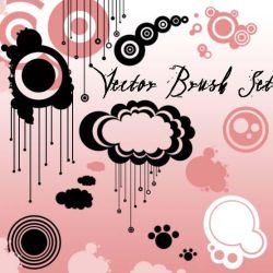 Vector Brush Set by Red--Roses
