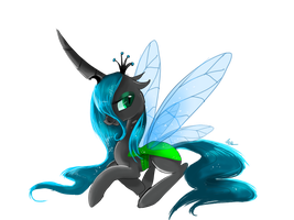 Holeless queen chrysalis by nutty-stardragon