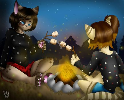 Camping-SisterTime by LeaLenTilla