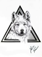 Wolf tattoo project by MoniicaArt