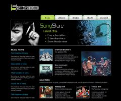 online music store web design by F05310019