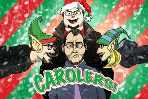 Carolers title card by wheretheresawil