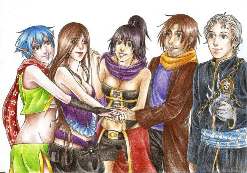 Commission - The Team by Cafla