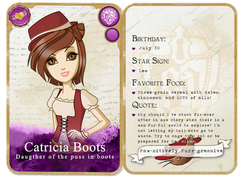 Com: Catricia Boots Rebel's card by starfirerencarnacion