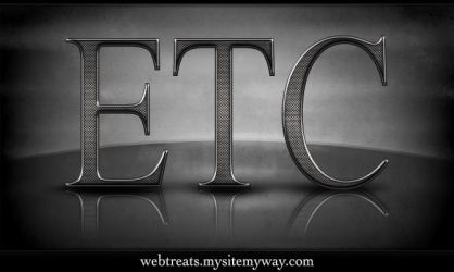 Textured Metal Text Effect by WebTreatsETC