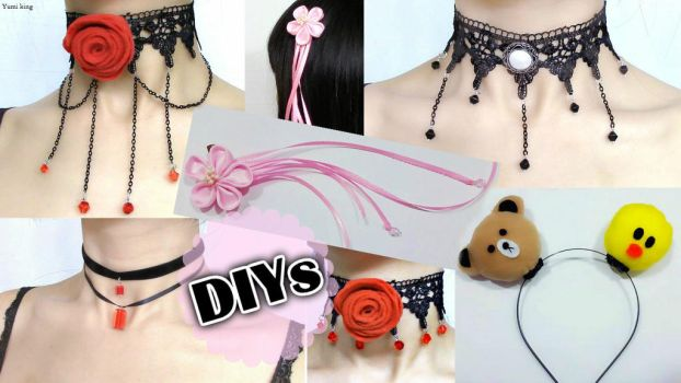 5 Amazing DIY Chokers and Hair Accessories(Scratch by YumiKing