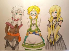 Skuld, Vert and Yareli~ (Commission) by XxSgtCampbell