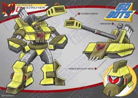 Gobots Animated Destroyer by PWThomas