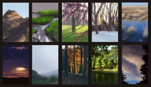 5 to 8 minute painting practice by hibbary