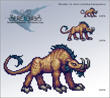 Pixel Monster by sererena