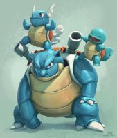 Blastoise and the boys by mcgmark