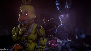 When you're playing with Plushtrap (SFM Wallpaper) by myszka11o