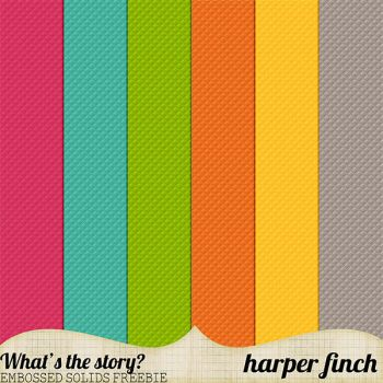What's the Story Embossed Freebie by harperfinch
