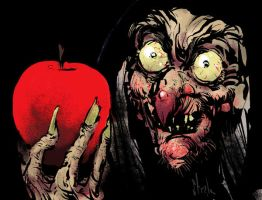 The Old Witch of Snow White by Kyle Strahm by AshcanAllstars