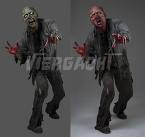 Zombie Photomanipulation Before and After by Viergacht