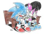 Colored in Sonic and Sally pic by Tracy Yardley by dth1971