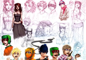 Sketches South Park by Rivan145th