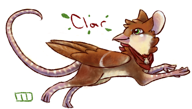 Clar the Sparrowmouse Gryphon by MangoPearls