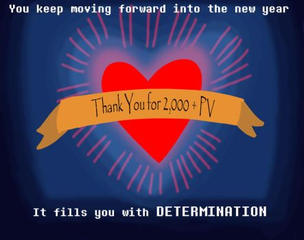 DETERMINATION (Happy New Year, Thanks for 2000 PV) by RockitStorm