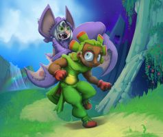 Humanoids Yooka and Laylee by foolyguy
