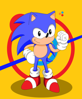 Classic Sonic by SuperSentaiHedgehog