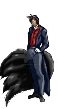 Aamon in a suit by fireangelrena