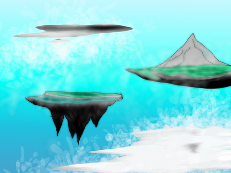 New Athanasy's floating islands by Drl-Omniar
