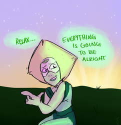 Comforting words from Peridot by Jeretroid-DA