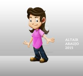 Kids Illustration | Tomboy girl Laila by AltairAraujo