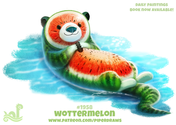 Daily Paint 1958# Wottermelon by Cryptid-Creations