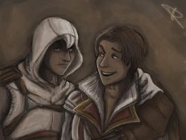 Altair and Ezio by svyre