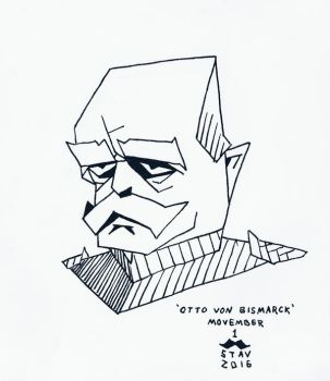 Movember#1 - Otto Von Bismarck by croovman