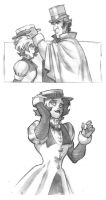 Emily and Hawkins -the hat- by CluesBD