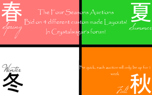 The Four Seasons Auction by Crystallinesugar