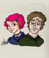 HP: Tonks and Lupin by Loleia