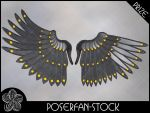 Metal Wings 004 Iron by poserfan-stock