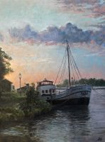 Boat Oil Painting by Entar0178