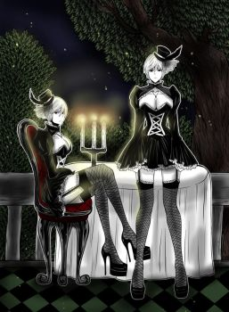 Two Characters from Castor - Romantic Night by tapastic