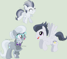 MLP NG Family: Silver Spoon and Rumble by BookWormPony