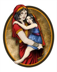 Sasmira and her daughter by Chasse-Lune