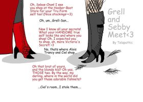 Sebby in True form Meets Grell by Telapathic