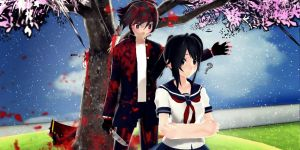 MMD-Yandere Simulator-If he were be a Yandere?... by Stefy5000
