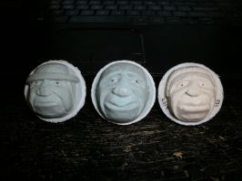 3 More Carved Golfballs by Des804